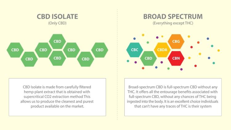 アイソレート CBD とブロードスペクトラム CBD の違い