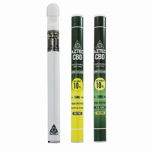 CBD ペン/CBD 10% アステカ 使い捨て CBD ペン / AZTEC CBD10% Oil with Terpenes Disposable Vape PEN